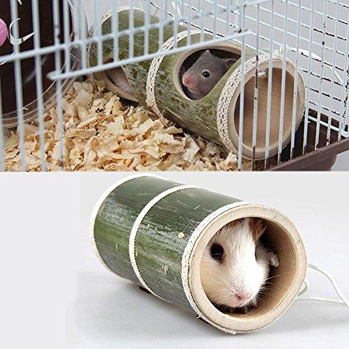 Gorgebuy Spieltunnel,Weidentunnel für Kleintiere für Kaninchen Meerschweinchen Hamster,Kleintiere Spielzeug,Durchmesser 6.5 cm,Länge 16 cm