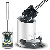 VASG Brosse WC en silicone, brosse WC et support - Kit de brosse WC mural & debout avec support à séchage rapide pour…