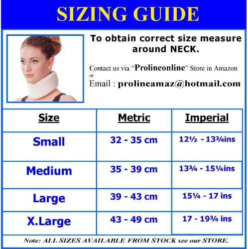 Prolineonline Unisex-Halskrause, Cervicalstütze aus Schaumstoff, Größe M