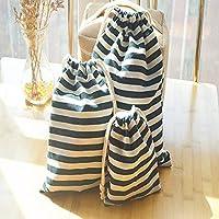 K&C 3 Diferente Tamaño de la bolsa con cordón Ditty bolsa de la cadena del bolso del zapato bolsa de viaje para acampar al aire libre que vaga 3 PC