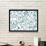 DIYthinker Azul electromagnética Física Mecánica gráfico ilustración Simple Marco de Fotos de Cuadros de Pinturas casera de la Pared Pequeño Negro