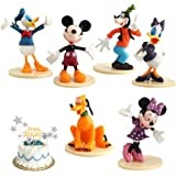 6 Pieces Mickey Cake Topper, Mickey Cake Topper Mini para Fiesta de cumpleaños Figuras para Cupcakes decoración para Tartas S