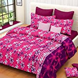 Vintana Pink Cotton Double Bedsheet With...
