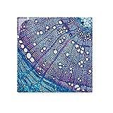 Wissenschaft Pflanze Blau Zelle Muster glänzend Keramik Fliesen Badezimmer Küche Wand Stein Dekoration Craft Geschenk Medium