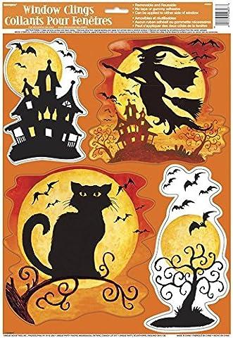 Spooky Hollow Halloween Window Clings Sheet