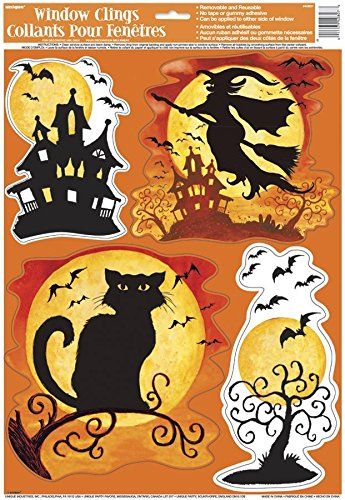 UNIQUE Decoración de Halloween Bruja para Las Ventanas
