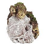 Pet Ting Sunken Skull and Broken Log Aquatic Ornament - Aquarium Decoration - Vivarium Decoration 6