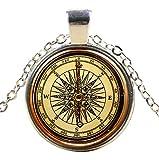 Ultra ® Maritime Compass Style Classic Unisex Steampunk Halskette Great Style Unisex Gothic Cosplay Vintage Cyber Männer Frauen Schmuck Cosplay Schädel Zahnräder Designs