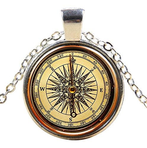 Ultra ® Maritime Compass Style Classic Unisex Steampunk Halskette Great Style Unisex Gothic Cosplay Vintage Cyber Männer Frauen Schmuck Cosplay Schädel Zahnräder Designs (Steampunk Cosplay Ideen)