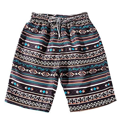 ☺HWTOP Herren Damen Bermuda Shorts Sommer Paare Strandshorts Floral Bohe Badeshorts Trunks Nickel Hosen Plus Größe Nationaler Stil Kurze Hose (Floral Trunk)