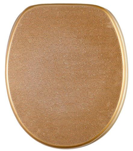 WC Sitz, hochwertige Oberfläche, einfache Montage, stabile Scharniere, Crystal Gold