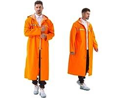 Pahajim Waterproof Rain Coat,Multifunctional with Reflective Lightweight Reusable Hiking Rain Coat Jacket Portable Resistant