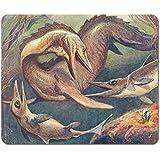 Dinosaurios - Mosasaurio Y Ictiosaurios, Heinrich Harder, 1912 Alfombrilla Para Ratón (23 x 19cm)