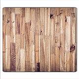decorwelt | Herdabdeckplatte 60x52 cm Ceranfeldabdeckung 1-Teilig Universal Elektroherd Induktion für Kochplatten Herdschutz Deko Schneidebrett Sicherheitsglas Spritzschutz Glas Holz