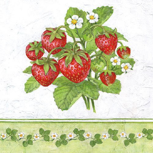 ambiente-serviettes-lunch-party-env-33-x-33-cm-season-fruit-strawberries-fraises
