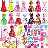 116 pcs Accesorios Muñecas Barbie,Accesorios de Vestir para Las Muñecas, 16pcs Verano Faldas Vestidos + 98 Accesorio de Barbie+ 2pcs Pegatina (Multicolor)