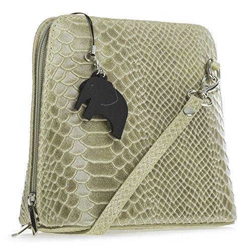 Big Handbag Shop , Damen Umhängetasche Einheitsgröße Snake - Beige