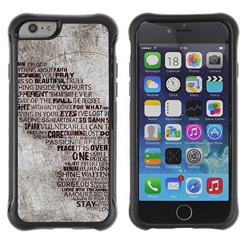 Graphic4You Art Drawing Design Shockproof Anti-Rutsch Weichen Hülle Case Tasche Schutzhülle für Apple iPhone 6 / 6S Design #16