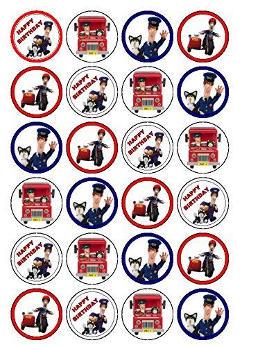 Image of 24 x Postman Pat Cupcake Cake Toppers