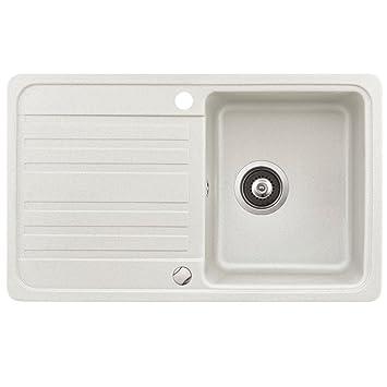 Spüle Granit Verbundspüle Küchenspüle Einbauspüle Auflage 760 x ... | {Spülbecken granit weiß 32}