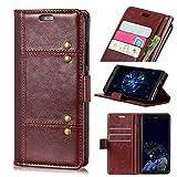Forhouse Nokia 9 Hülle,Ledertasche Hülle, Premium PU Leder Schutzhülle Flip Magnet Brieftasche Kartenfach Schlanke stoßfest Schutzhülle für Nokia 9 (Brown)