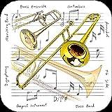 Dessous-de-verre (lot de 4)-trombone