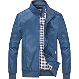 Nantersan Mens Casual Jackets Lightweight Slim Fit Bomber Jackets Coats Classic Outerwear Windbreaker