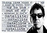 Lou Reed-Satellite of Love-PAROLES Poster-Pop Star Legend Superstar King Best couleur unique Imprimé photo A4Poster mural
