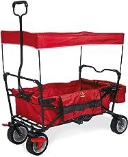 Pinolino 238012 Klappbollerwagen 'Paxi dlx' mit Bremse, rot Bollerwagen