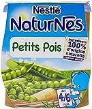 Nestlé Bébé Naturnes Petits Pois - Purée de Légumes dès 4 - 6 Mois - 2 x 130g - Lot de 6
