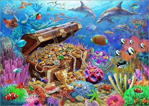 Alubild 160 x 120 cm: Schatz Unterwasser von Adrian Chesterman/MGL Licensing -