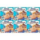 Nestlé Bébé P'tit Gourmand Laitage Chocolat Biscuit dès 12 mois 4 x 100 g - Lot de 6 (24 coupelles)