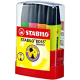 Textmarker - STABILO BOSS ORIGINAL BOSSparade - 4er Tischset - grün, pink, orange, gelb
