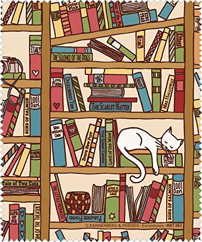 Reinigungstuch Brillenputztuch Katze im Bücherregal, Microfasertuch Reinigungstücher Brillenputztücher Tücher Kätzchen