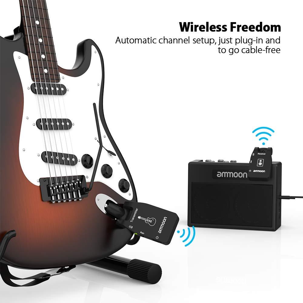 ammoon Sistema di Chitarra Senza Fili Wireless Trasmettitore