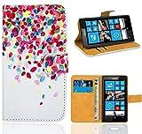Nokia Lumia 520 Handy Tasche, FoneExpert Wallet Case Flip Cover Hüllen Etui Ledertasche Lederhülle Premium Schutzhülle für Nokia Lumia 520