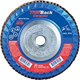 """United Abrasives/Sait 70824 Trimmable Flap Disc for Angle Grinder, 10per Box, 80 Grit, 4.5"""" x 7/8"""""""