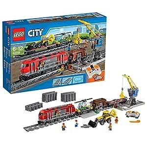 lego city 60098 jeu de construction le train de marchandises jeux et jouets. Black Bedroom Furniture Sets. Home Design Ideas