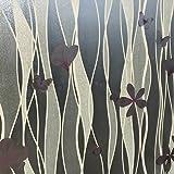 Milchglasfolie Sichtschutzfolie Fensterfolie Dekofolie Dekor Folie Glasfensterfolie Selbstklebend - Selbsthaftende Glasfolie Dekorfolie für Fenster innen Haus Wohnung & Appartement 91 x 300 cm