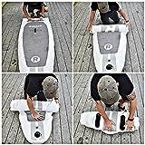 Aufblasbares iRocker-Paddleboard, 304 cm (15,2 cm dick), SUP-Paket – 2 JAHRE GARANTIE (Weiß) - 4
