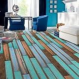 TPulling Neue Exquisite Mode 3D Holz Aufkleber selbstklebende Bodenbelag Aufkleber Simulation Holzboden Aufkleber Küche Schlafzimmer Wohnzimmer Boden PVC Aufkleber (D)