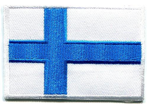 Aufnäher / Aufbügler Finnische Flagge Nordeuropa Flagge Finnland