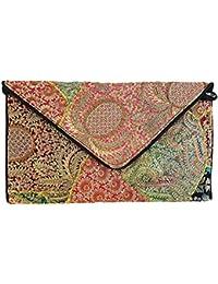 Mehrunnisa Multi Colour Patchwork Envelope Bag For Women (BAG1743)