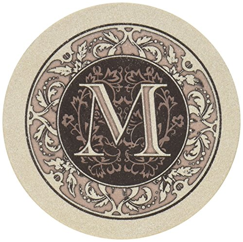 Thirstystone Untersetzer mit Monogramm-Buchstabe A M One Size mehrfarbig