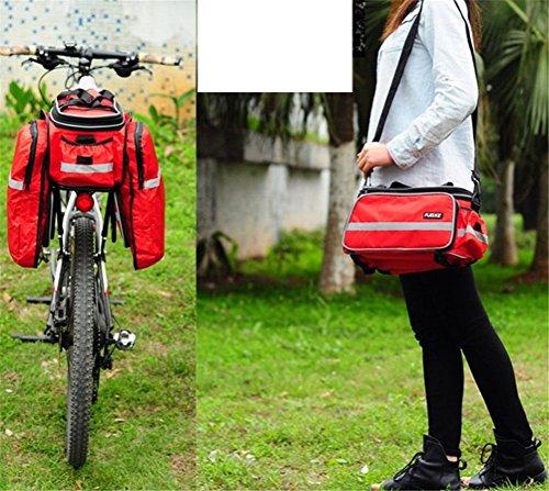 Fortuning's JDS Sitzgestell Tasche Beutel mit Schultergurt für Außenreitwander Radfahren zurück Rot