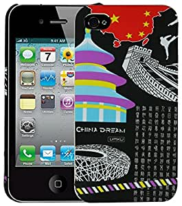 Heartly World Series Printed Design High Quality Hard Bumper Back Case Cover For Apple iPhone 4 4S 4G - China Black