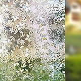 Rabbitgoo Anti-UV 3D statisch haftend Fensterfolie Dekofolie Sichtschutzfolie Fensterschutzfolie 90cm*200cm