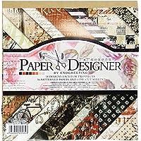 Papel para manualidades, de Misscrafts. Hojas de papel con diseños y patrones. 40hojas cuadradas de 17,8 x 17,8 cm