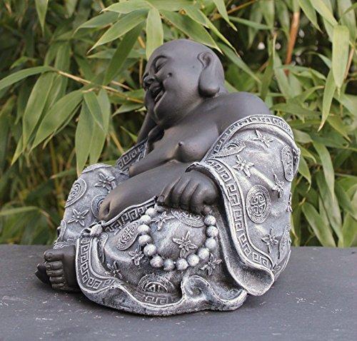 Steinfigur Buddha in Schiefergrau - 3