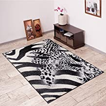 Alfombra De Salón Moderna – Color Negro Gris De Diseño Piel De Animales – Suave – Fácil De Limpiar – Top Precio – Diferentes Dimensiones S-XXXL 250 x 350 cm